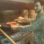 Cocinando en la parrilla