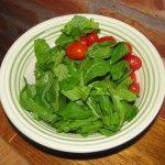 tomate y rúcula