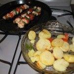 Brochette de pollo cocido