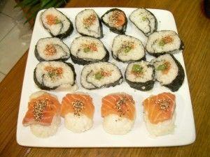 plato listo de sushi