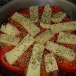 tortilla de verduras a la pizza