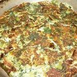 tortilla de verduras lista