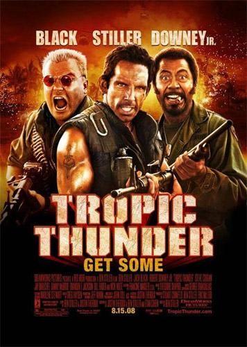 Poster de película tropic thunder